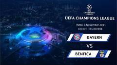 Jadwal Pertandingan | Bayern Munich vs Benfica - 3 November 2021, 03:00 WIB | UEFA Champions League 2021