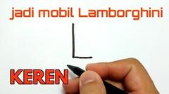 LAMBORGHINI KEREN, cara menggambar huruf L menjadi Lamborghini keren banget