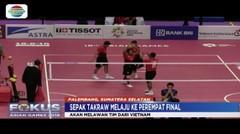 Kalahkan Laos, Sepaktakraw Indonesia Lolos ke Perempat Final Nomor Quadran - Fokus Pagi