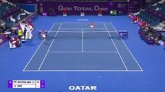 Match Highlights   Elina Svitolina 2 vs 0 Misaki Doi   WTA Qatar Total Open 2021