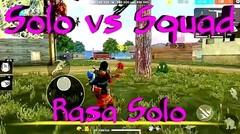 FREE FIRE | Solo Vs Squad Rasa Solo
