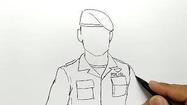 Cara Menggambar Polisi Brimob Ganteng Vidio Com
