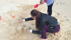 Sandcastle Building at Tangalooma Island Resort