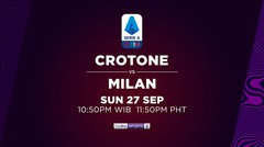 Crotone vs Milan - Minggu, 27 September 2020 | Serie A 2020
