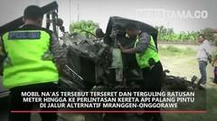 Mobil Pick Up Ringsek Tertabrak Kereta Api di Demak