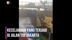 Kecelakaan Truck Penganggkut Terjadi Di Tol Jakarta