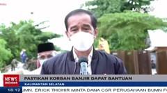 Presiden Bertolak Ke Lokasi Banjir Di Kalsel