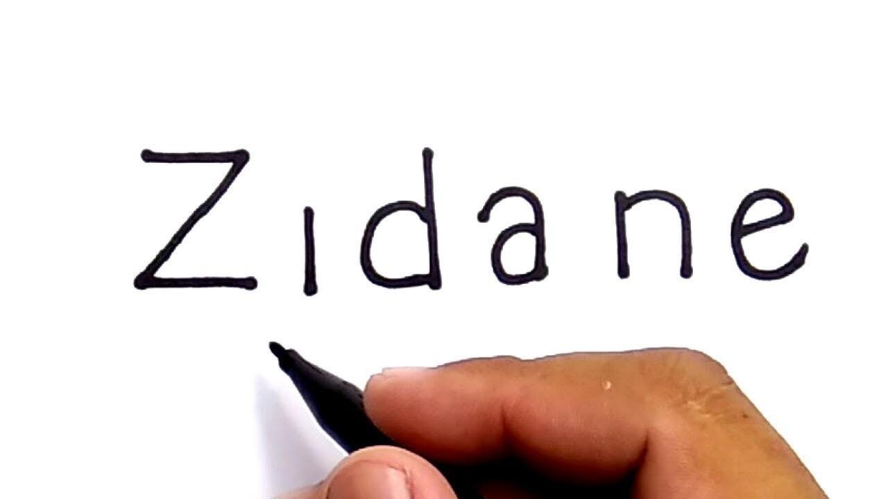 Cara Menggambar Kata ZIDANE Menjadi Wajah Zidane How To Turn Words Zidane Into Cartoon