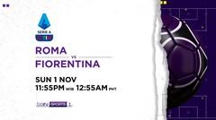 Roma vs Fiorentina - Minggu, 1 November 2020 | Serie A 2020