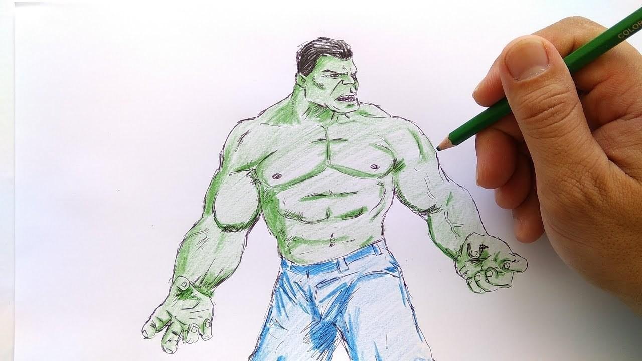 Cara Menggambar Hulk