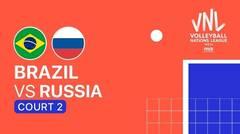 Full Match   VNL MEN'S - Brazil vs Russia   Volleyball Nations League 2021