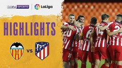 Match Highlight | Valencia 0 vs 1 Atletico Madrid | La Liga Santander 2020