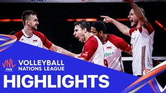 Match Highlight   Semi Final   VNL MEN'S - Poland 3 vs 0 Slovenia   Volleyball Nations League 2021