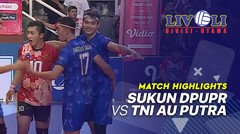 Match Highlight Perebutan Juara 3 - Sukun DPUPR 1 vs 3 TNI AU Putra | Livoli 2019