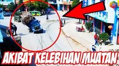 BEGINI AKIBATNYA KALO KELEBIHAN MUATAN! 5 Momen Truck Kelebihan Muatan Di Jalan  Raya