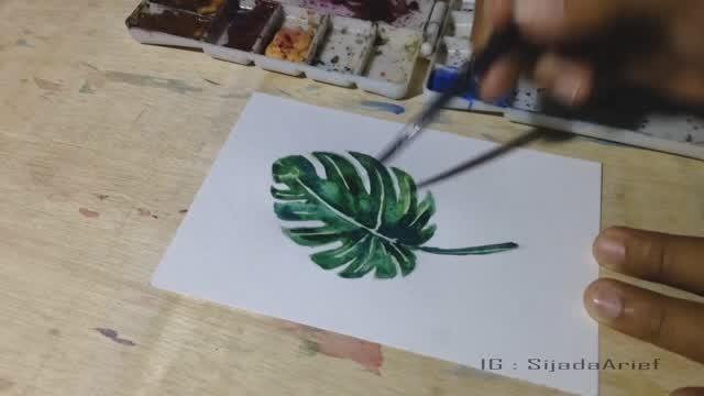 Cara Melukis Daun Tropis Tropical Art Vidio Com