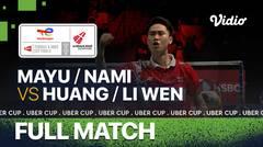 Full Match   Jepang vs China   Misaki Matsutomo/Nami Matsuyama vs Huang Dong Ping/Li Wen Mei   Thomas & Uber Cup 2020