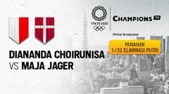 Full Match | Panahan Tunggal Putri 1/32 Eliminasi | Diananda Choirunisa (Indonesia) vs Maja Jager (Denmark) | Olimpiade Tokyo 2020