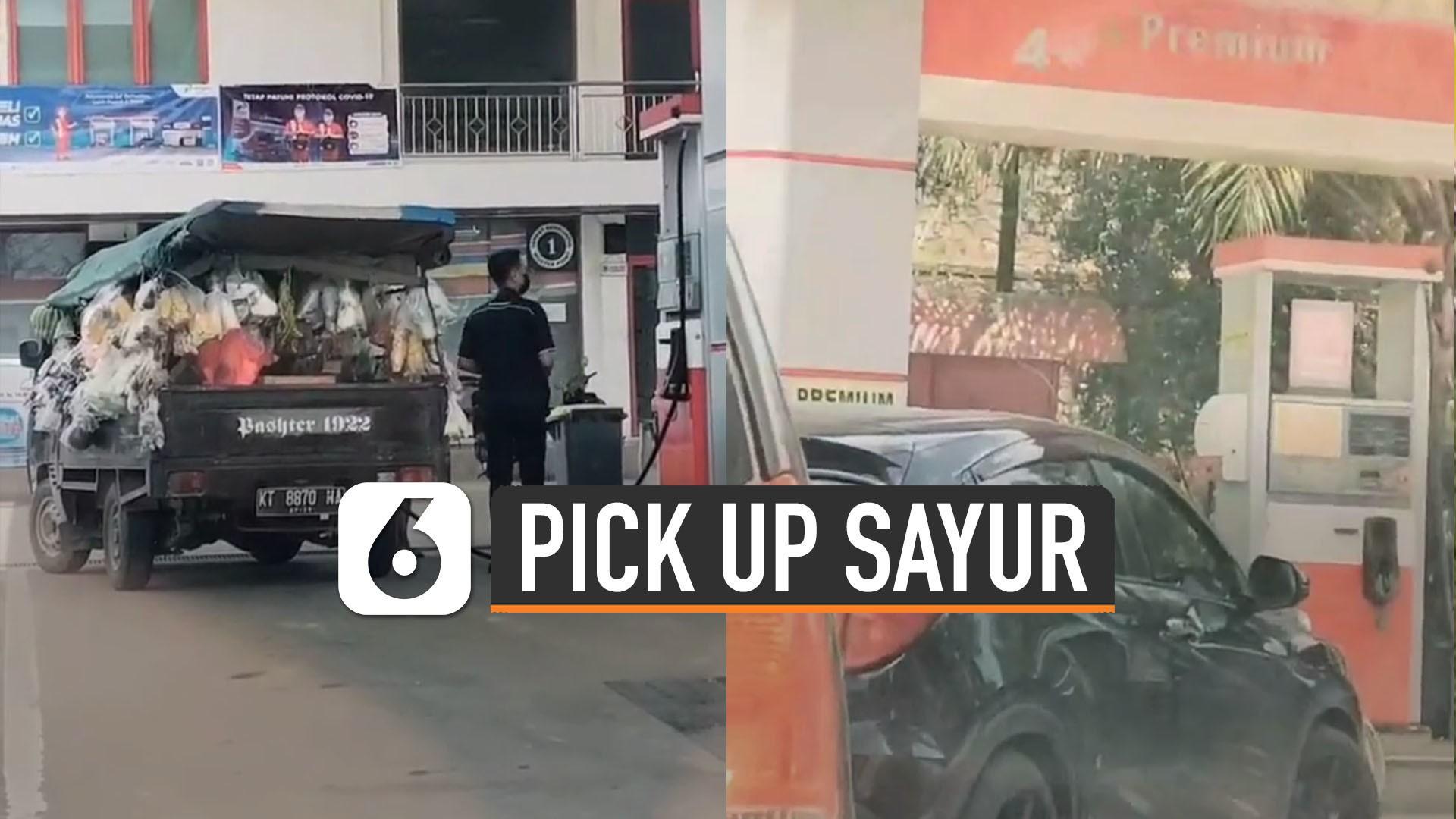 Kocak Pick Up Sayur Isi Pertamax Mobil Mewah Justru Antri Premium Liputan6 Com Vidio
