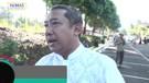 Yana Mulyana melaksanakan salat idulfitri 1440 H di Lapang KPAD, Gegerkalong, Kota Bandung