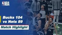 Match Highlight |  Milwaukee Bucks 104 vs 89 Brooklyn Nets | NBA Playoffs 2020/21