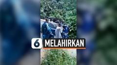 Akses Jalan Rusak, Ibu Hamil Ditandu 10 Kilometer ke Puskesmas untuk Melahirkan
