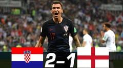 Hasil Pertandingan KROASIA vs INGGRIS 2-1 Piala Dunia 2018 Tadi Malam 12 Juli 2018