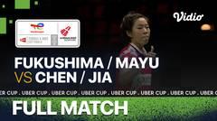 Full Match   Jepang vs China   Yuki Fukushima/Mayu Matsumoto vs Chen Qing Chen/Jia Yi Fan   Thomas & Uber Cup 2020