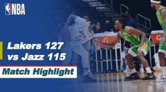 Match Highlight   LA Lakers 127 vs 115 Utah Jazz   NBA Regular Season 2020/21