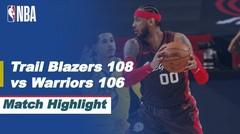 Match Highlight   Portland Trail Blazers 108 vs 106 Golden State Warriors   NBA Regular Season 2020/21