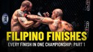 Every Filipino Finish In ONE Championship - Part 1