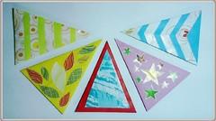 Amplop idul fitri kertas origami motif segitiga