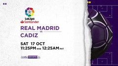 Real Madrid vs Cadiz - Saturday, 17 October 2020 | La Liga Santander