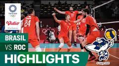 Highlights | Bola Voli Putra | Semifinal - Brasil 1 vs 3 ROC | Olimpiade Tokyo 2020