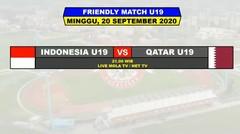 Hasil Uji Coba Timnas Indonesia U19 VS Qatar U19 Tadi Malam