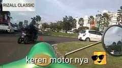 Jalan jalan ke sumarecon naik motor vespa tua