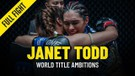 Janet Todds Turning Point - ONE Full Fight & Feature