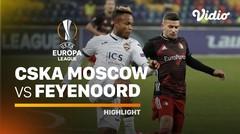 Highlight - CSKA Moskwa vs Feyenoord I UEFA Europa League 2020/2021