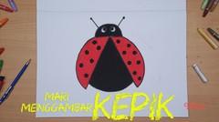 Mari Menggambar - Kepik atau Lady Bug