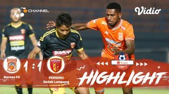Full Highlight - Borneo FC 1 vs 1 Perseru Badak Lampung | Shopee Liga 1 2019/2020