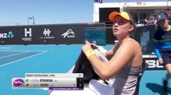 Match Highlight | Elena Rybakina 2 vs 0 Shuai Zhang | WTA Hobart International 2020