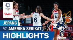 Highlights | Bola Basket Putri | Perebutan Medali Emas - Amerika Serikat 90 vs 75 Jepang | Olimpiade Tokyo 2020