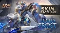 Lord of the Frost Ignis Skin Spotlight - Garena AOV (Arena of Valor)