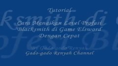 Cara Menaikan Level Profesi blacksmith Game Elsword Dengan Cepat