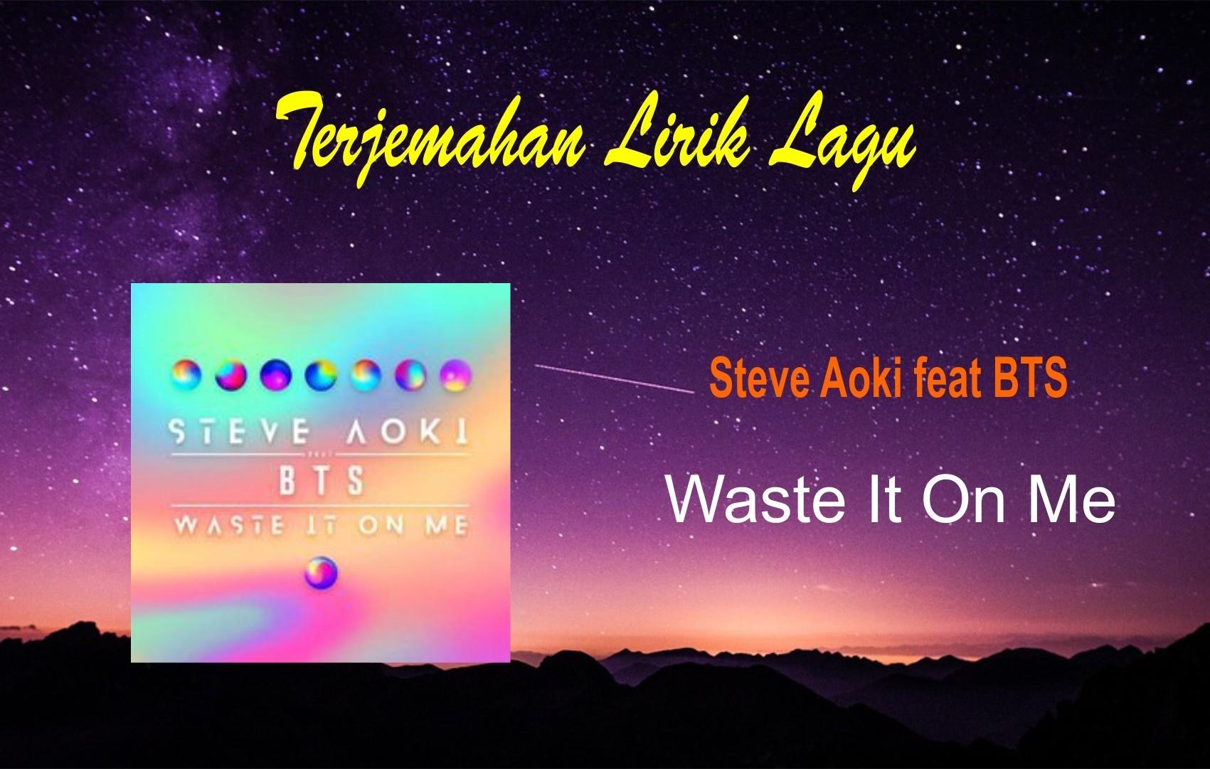 Lirik Steve Aoki feat BTS - Waste It On Me dan Terjemahan