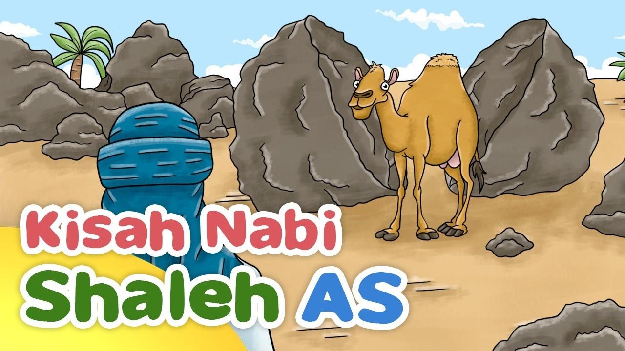 Kisah Nabi Shaleh AS Mukjizat Unta Dari Dalam Batu Kartun Anak Muslim