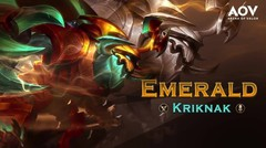 Emerald Kriknak - Skin Spotlight Garena AOV ( Arena of Valor )