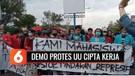 Ratusan Mahasiswa di Cirebon Gelar Demo Protes UU Cipta Kerja