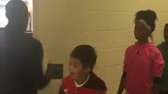 Handshakes with teacher