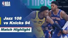 Match Highlight | Utah Jazz 108 vs 94 New York Knicks | NBA Regular Season 2020/21